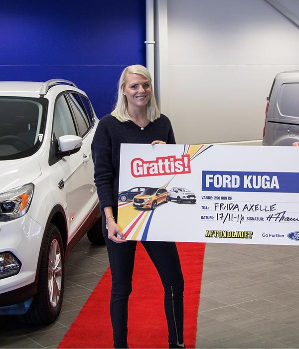Frida vann en Ford Kuga